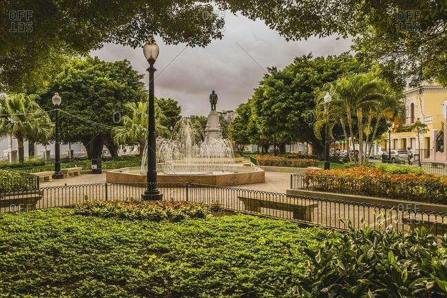 March 11, 2007: A fountain in laza (square) las Delicias
