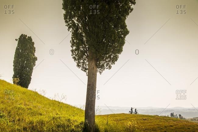 Overlook of Val d�Elsa at parco della Canonica, near Certaldo
