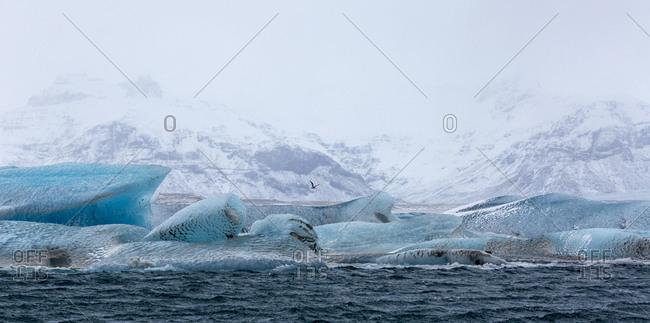 Scenic View Of Jokulsarlon Glacier Lagoon, Iceland