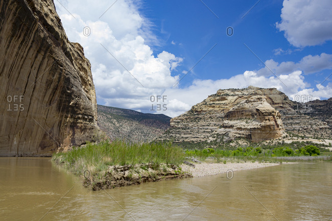 Confluence Of The Yampa And Green Rivers In Dinosaur National Monument, Utah