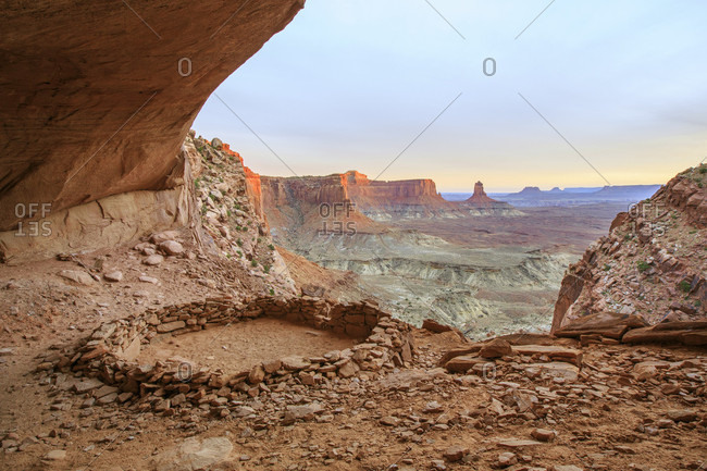 False Kiva Inside Canyonland National Park, Utah, Usa