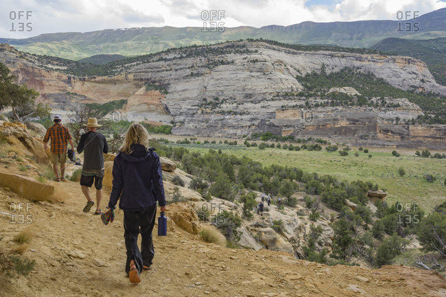 People Hiking Near Green River, Dinosaur National Monument, Utah