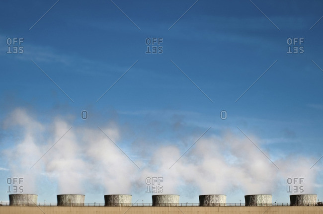 Pollution emitting from cooling towers