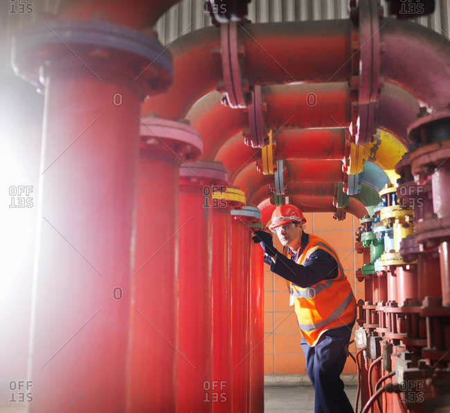 Worker In Coal Fired Power Station