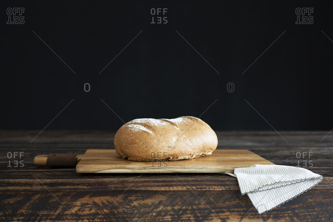 Sourdough Bread loaf on table