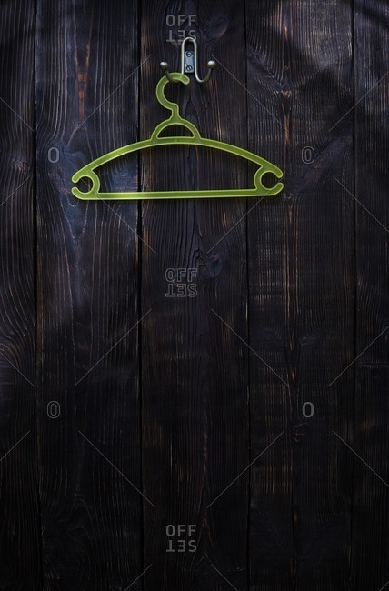 Hanger on a wood wall