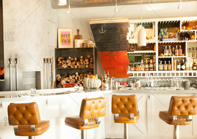 Seattle, Washington - November 22, 2015: Interior of Westward restaurant in Seattle, Washington