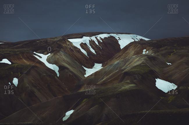 Snowy mountains in Landmannalaugar, Iceland