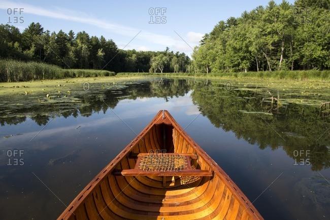 Canoeing the LaPlatte River Marsh Natural Area, Shelburne, Vermont