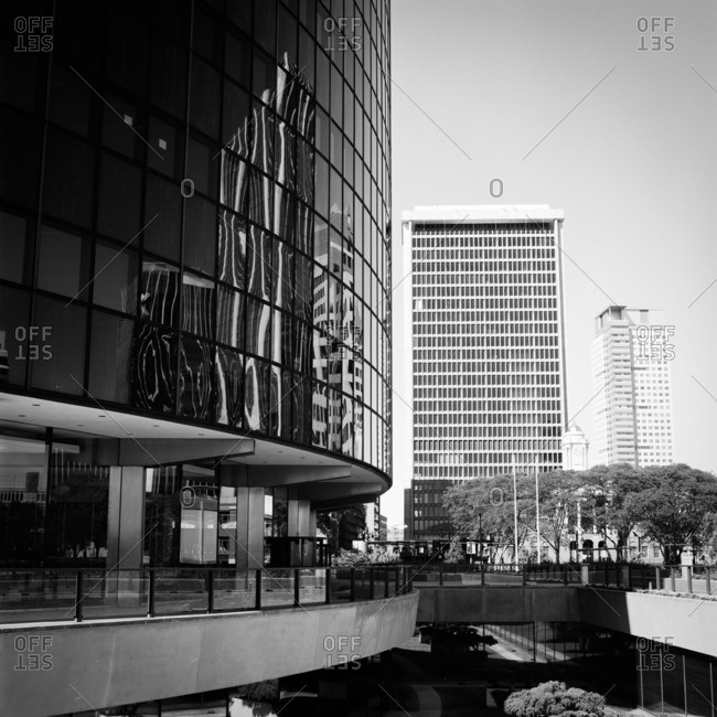 Hartford, Connecticut - November 13, 2014: Office buildings in city