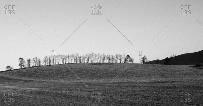 Rural hill in upstate New York