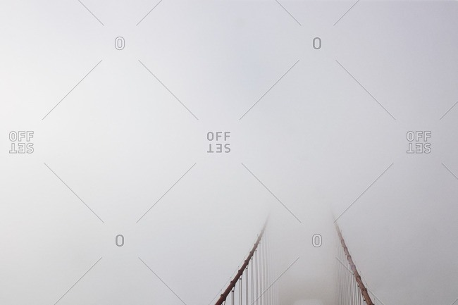 Bridge covered during foggy weather