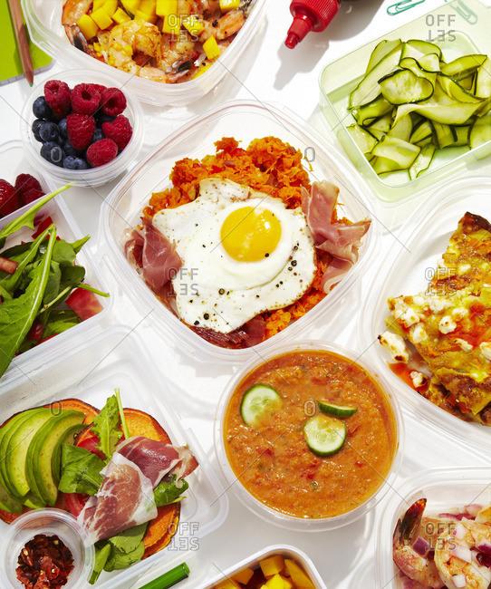 Bibimbap and variety of meals
