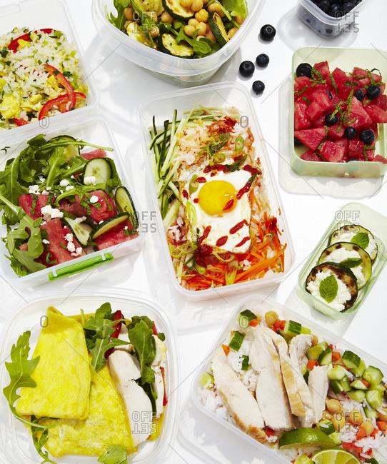 Bibimbap and variety of healthy meals
