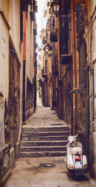 Alleyway in Palermo city, Sicily, Italy