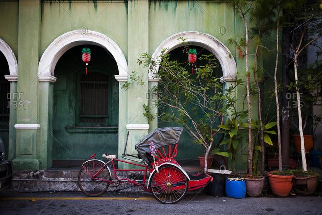 Bike taxi in Penang, Malaysia