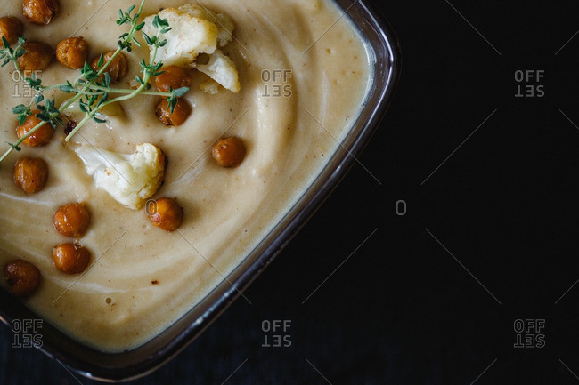 A puree with cauliflower