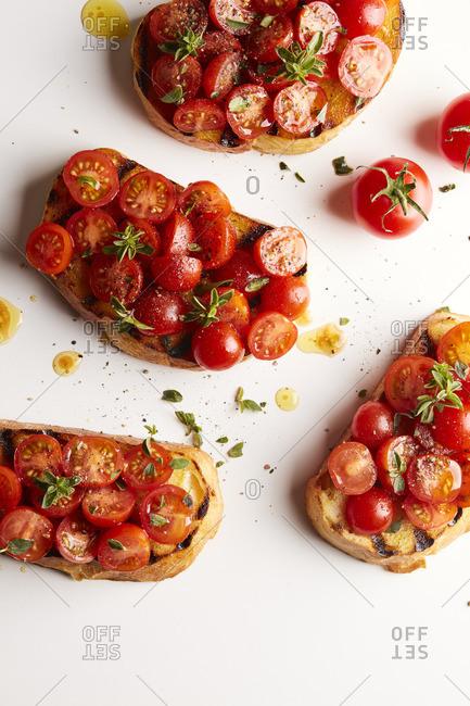 Bruschetta with cherry tomatoes