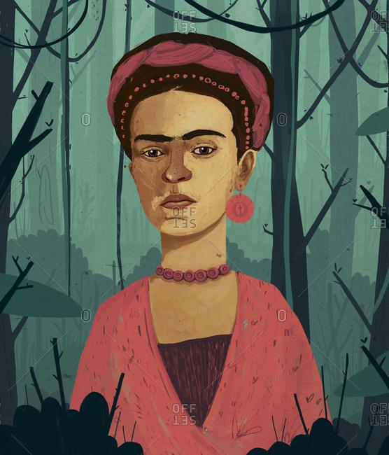 A portrait of Frida Kahlo