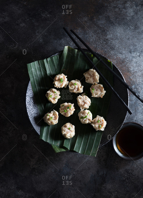 Steamed shumai dumplings