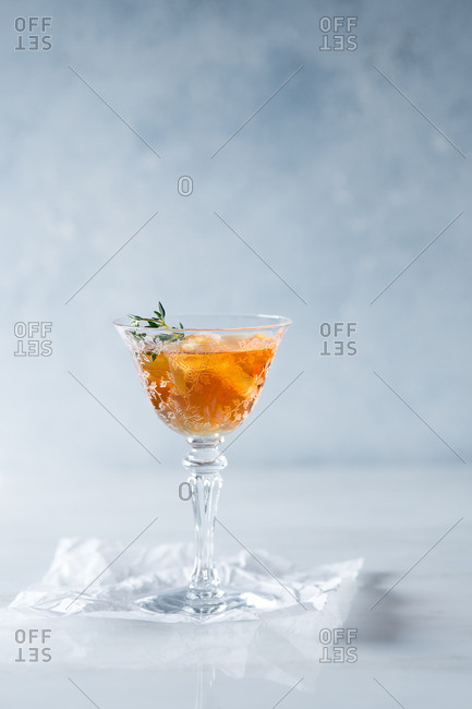 Bourbon cocktail with thyme