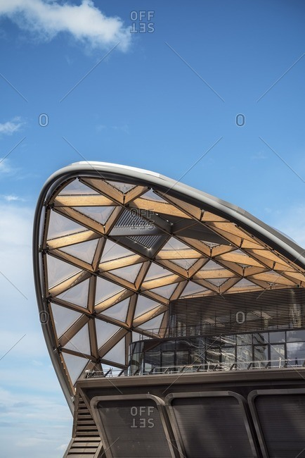London, England - August 11, 2014: Modern architecture, Canary Wharf new financial district, City of London, England, United Kingdom, Europe