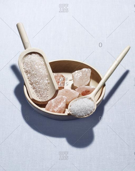 Seasalt, wooden spoon