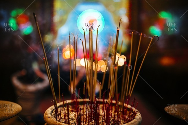 Incense at Ong Pagoda in Can Tho, in the Mekong Delta in southern Vietnam