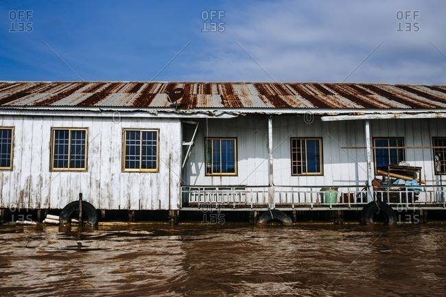A house boat in Chau Doc in the Mekong Delta, southern Vietnam