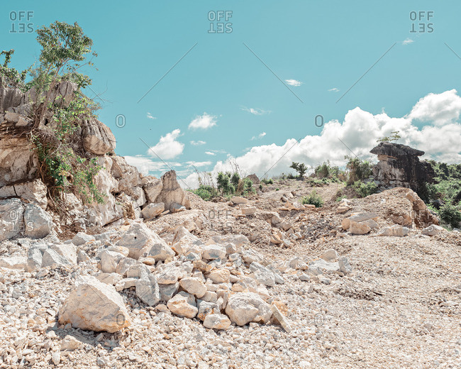 Marble rocks in rural Philippines