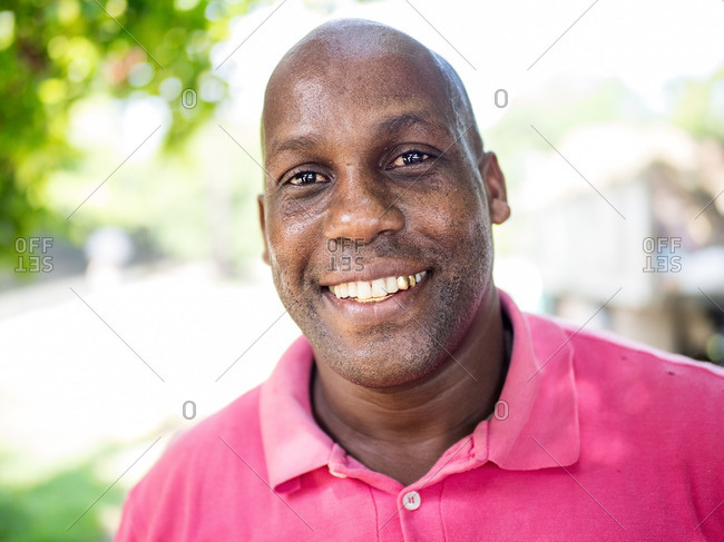 Havana, Cuba,  - August 23, 2016: Portrait of a smiling man with gold teeth