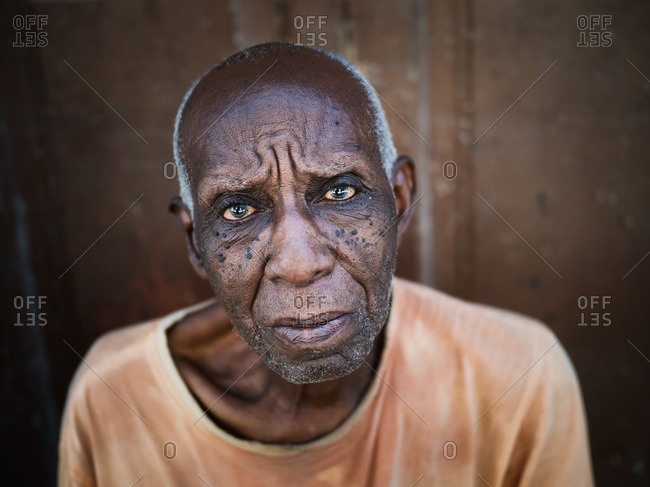 Havana, Cuba,  - August 27, 2016: Portrait of an elderly man