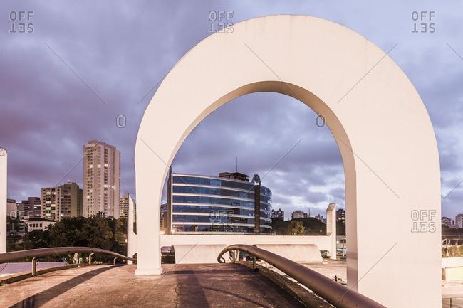 Sao Paulo, Brazil - April 29, 2012: The Memorial da America Latina (Latin America Memorial) by Oscar Niemeyer