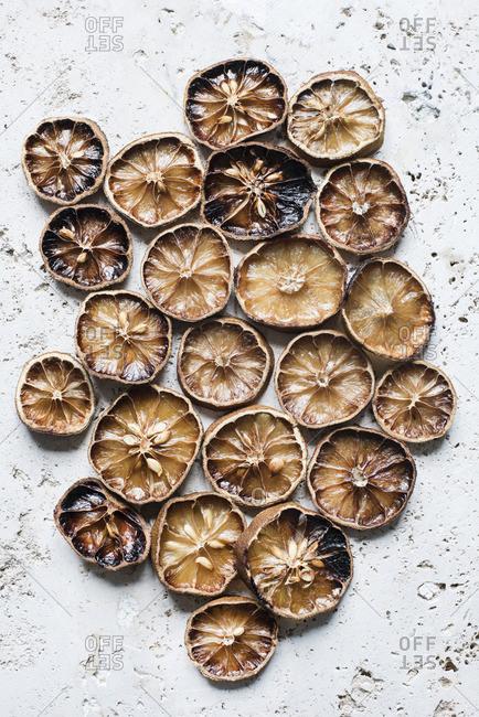 Dried lemon slices from above
