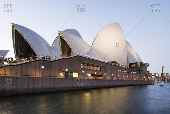 Sydney, Australia - November 2, 2016: Sydney Opera House at sunset