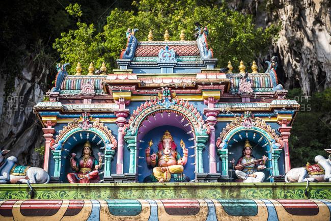 Colorful Hindu statues, Batu Caves, Kuala Lumpur, Malaysia, Southeast Asia, Asia