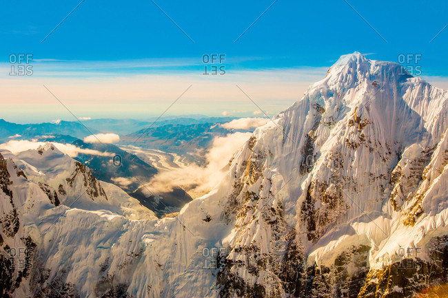 Mt. Denali and the Alaskan mountain range, Alaska, United States of America, North America