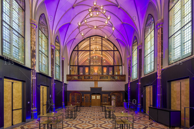 Breda, Netherlands - November 28, 2016: Chapel in Hotel Nassau