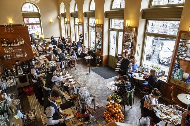Prague, Czech Republic - May 4, 2016: Cafe Savoy, Prague, Czech Republic
