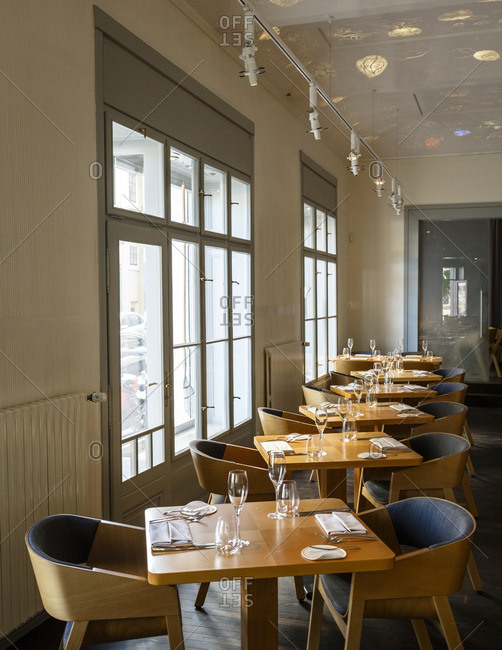 Prague, Czech Republic - May 6, 2016: Restaurant Field, Prague, Czech Republic