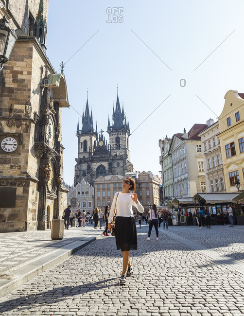 Prague, Czech Republic - May 7, 2016: The old town square, Prague, Czech Republic