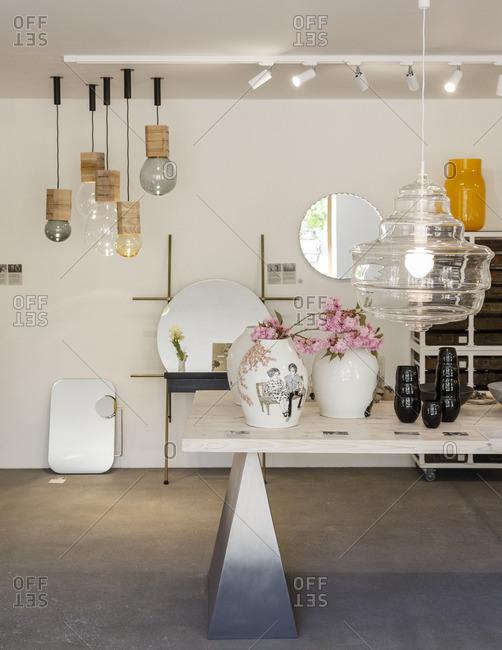 Prague, Czech Republic - May 7, 2016: Interior of Cihelna Concept Store, Prague, Czech Republic