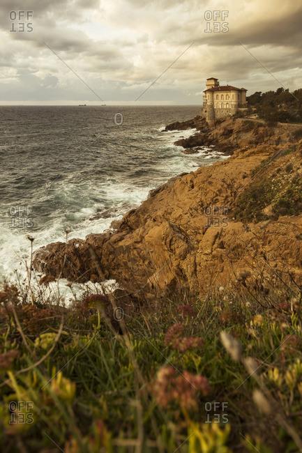 Italy- Tuscany- Castello del Boccale at the coast