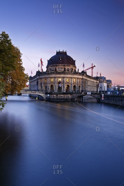 Bode Museum at twilight