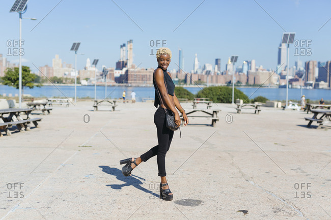 USA- New York City- Brooklyn- smiling young woman