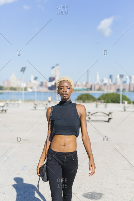 USA- New York City- Brooklyn- confident young woman