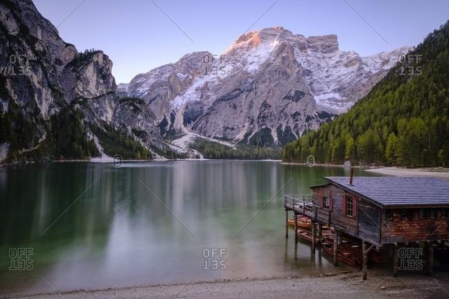 Italy- South Tyrol- Pragser Wildsee