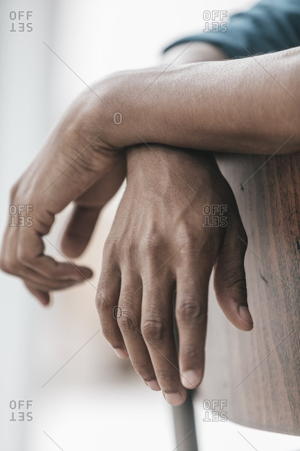 Hands of a young man- close up