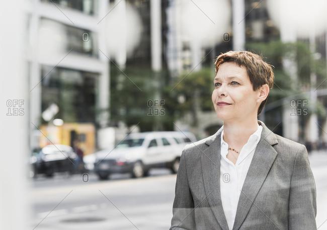 USA- New York City- confident businesswoman in Manhattan