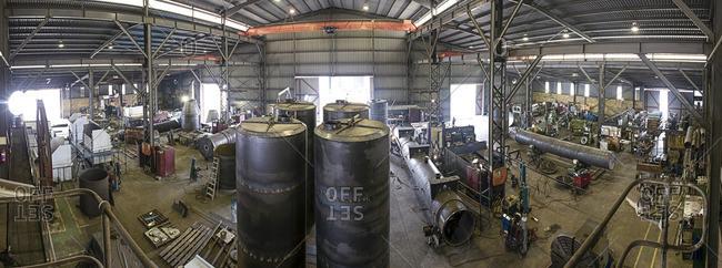 Factory workshop of steel factory